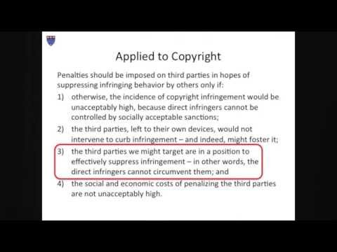 William Fisher, CopyrightX, Lecture 11.1, Supplements to Copyright: Secondary Liability