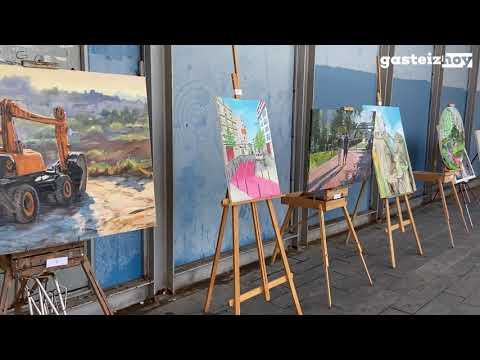 Los pintores salen a las calles de Zabalgana