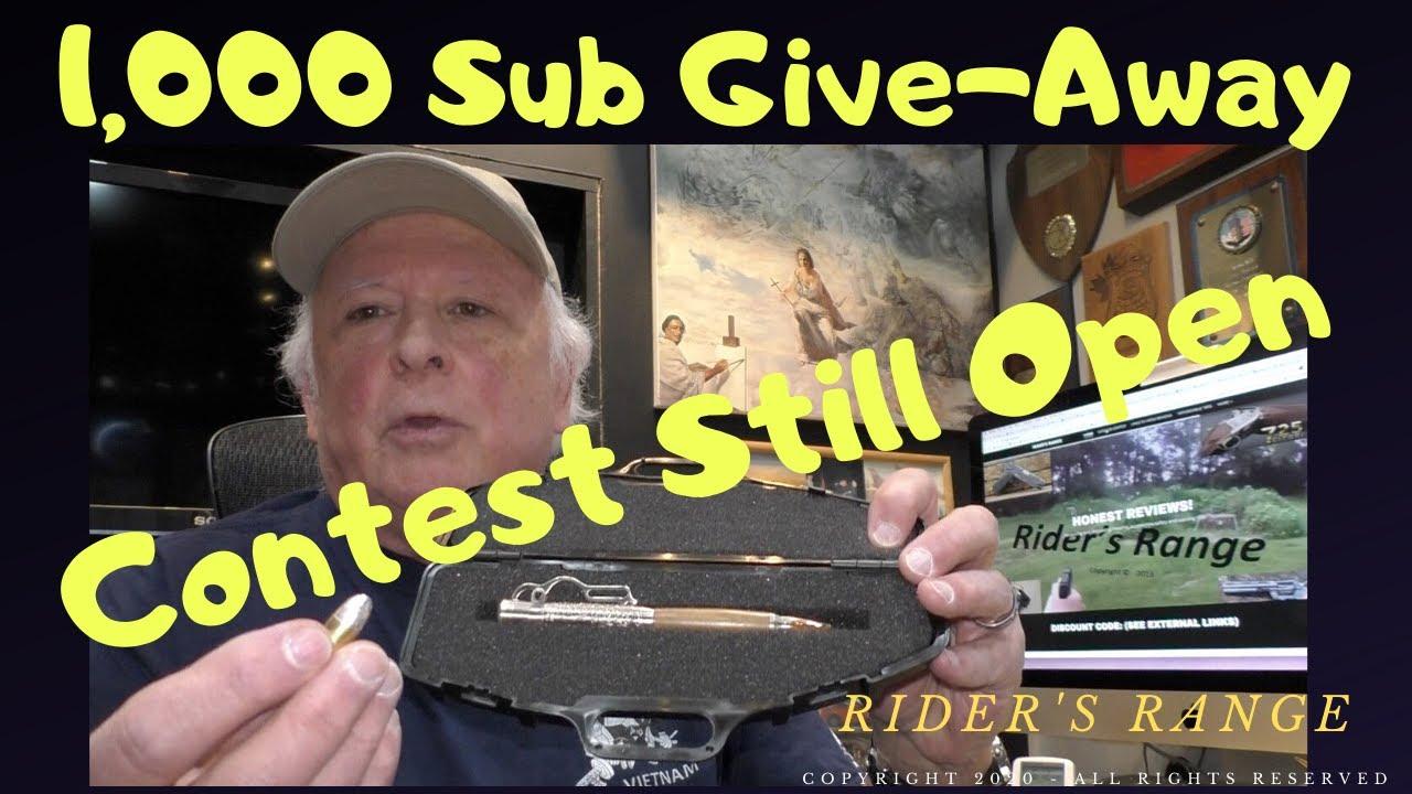 1,000 Sub Contest Still Open - Enter Now!