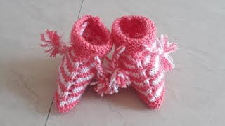 How to make Baby shoes from woolan