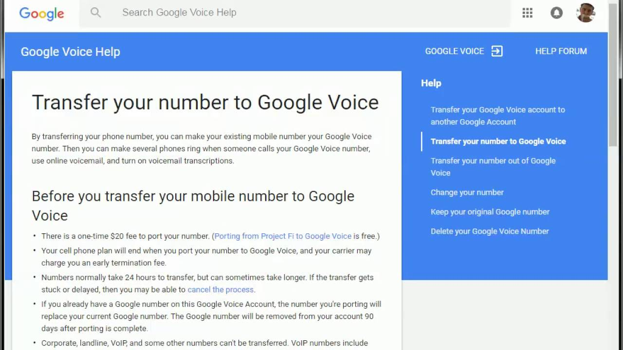 Unlock Google Voice Number for Porting Out To Another Carrier - YouTube