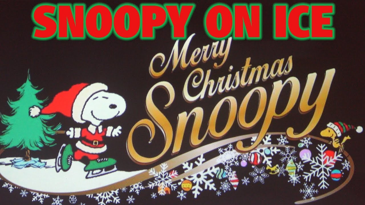 merry christmas snoopy snoopy on ice knotts merry farm - Snoopy Merry Christmas Images