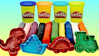 Learn Animal Sounds, Colors with Play-doh, Co...