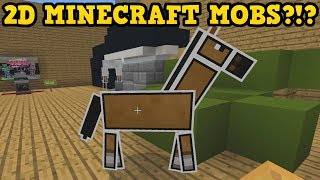 What If Every Minecraft Mob Was 2D? Papercraft Adventure!
