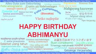 Abhimanyu   Languages Idiomas - Happy Birthday