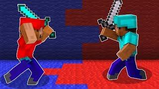 ПРОТИВОСТОЯНИЕ ДВУХ СТОРОН В МАЙНКРАФТЕ! - Minecraft Turf Wars