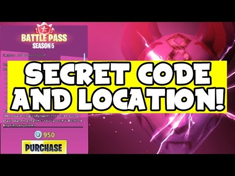 NEW Secret CODE Leaks LOCATION For LLAMA Building!! (Fortnite Season 5 Leaks)