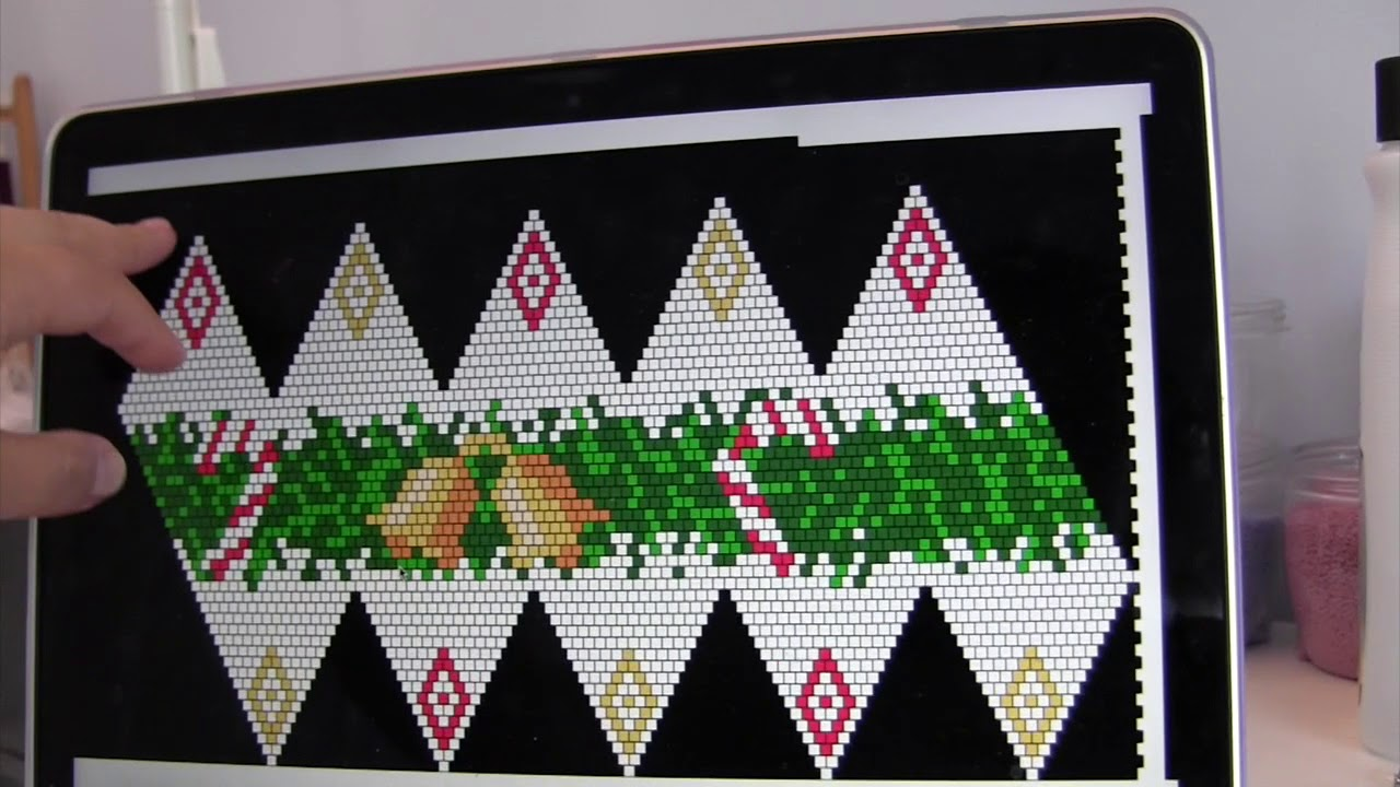 24 Bead Crochet Of Christmas Ornament Youtube Crochet Christmas Ornaments Beaded Ornament Covers Crochet Ornament Patterns