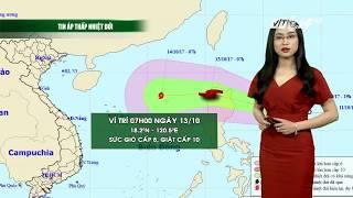 VTC14   Thời tiết 12h 12/10/2017  Miền Trung lại sắp phải đón bão