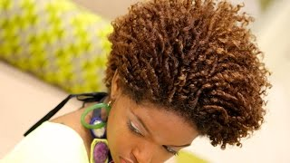 Natural Hair | Finger/Comb Coil Out Curly Fro Tutorial