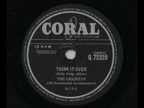 The Crickets 'Think It Over' 1958 78 rpm Mp3