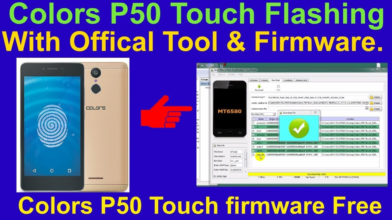 How To Flashing Colors P50 Touch With Offical Tool & Firmware