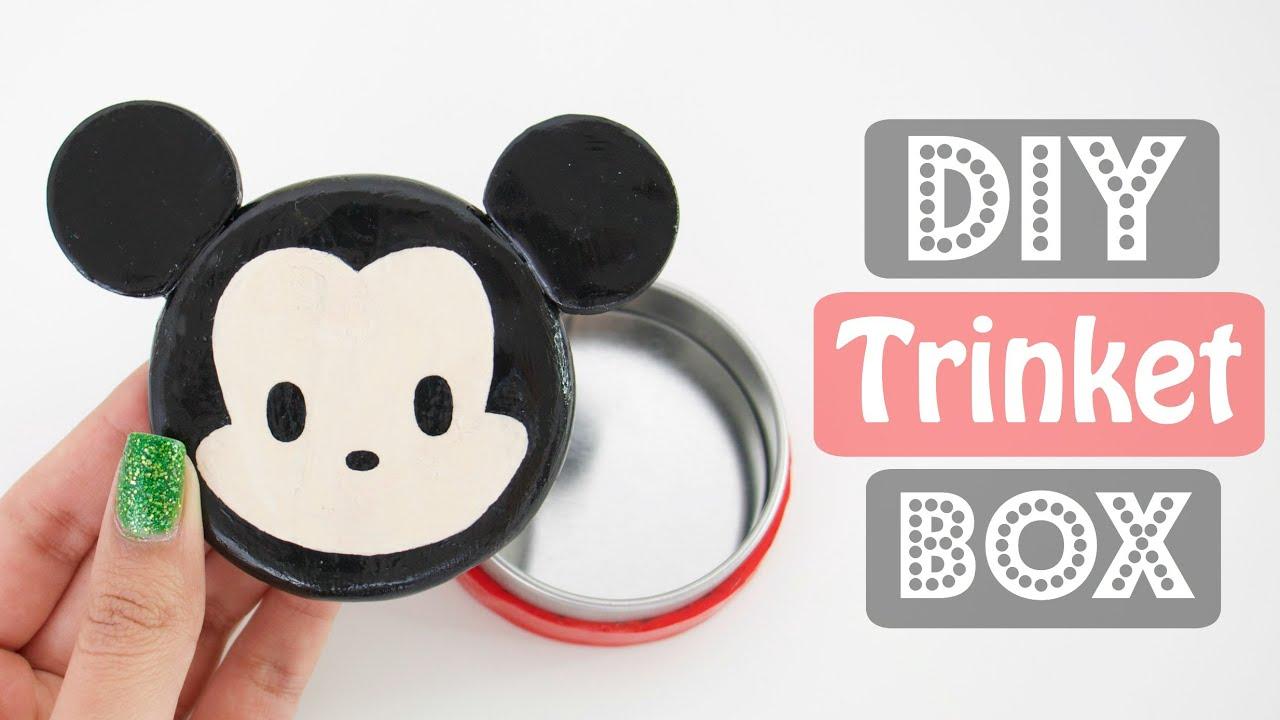 DIY Mickey Mouse Trinket Jewelry Box Disney Tsum Tsum YouTube