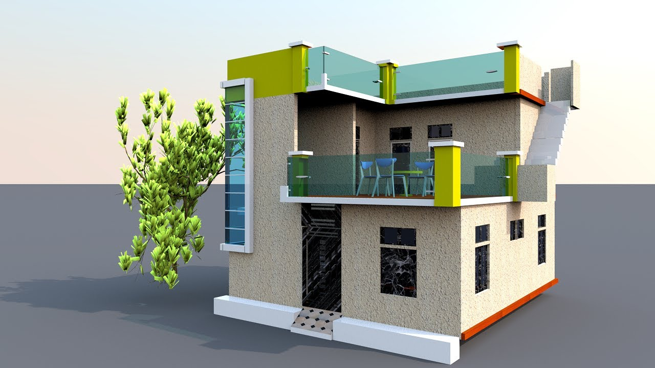 26 x 30 Home Design with car parking !! 26 x 30 House Plan With Front Elevation !! 26 by 30 Makan