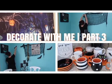 Decorate with me for Halloween Part 3 - Kitchen and Bathroom - 동영상