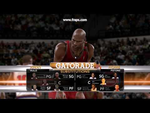 NBA 2k10 PC 1991-92 Season - MJ Knocks down the Free Throws (Bulls @ Pistons)