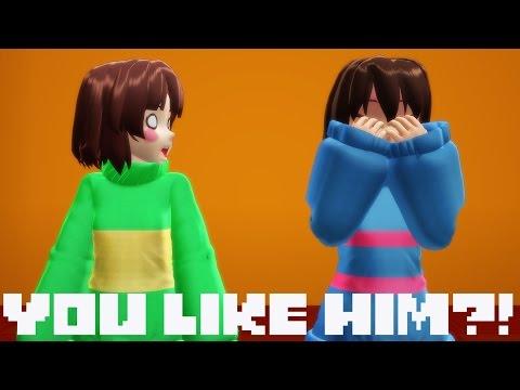 【MMD】YOU LIKE HIM?!【Undertale Comic Animation+Dub】