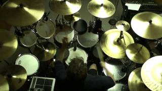 "Drumming along to ""Beneath, Between and Behind"" by Rush (Top view)"