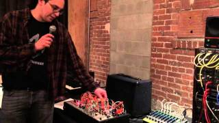 Industrial Music Electronics Demo at Patchwerks Seattle Synth Meet - April 2016