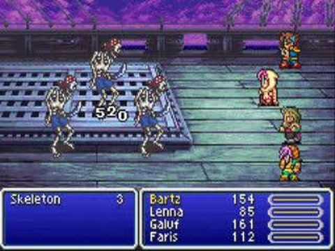 Final Fantasy V Advance gameplay movie - YouTube