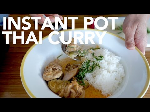 Thai Chicken & Eggplant Curry Instant Pot
