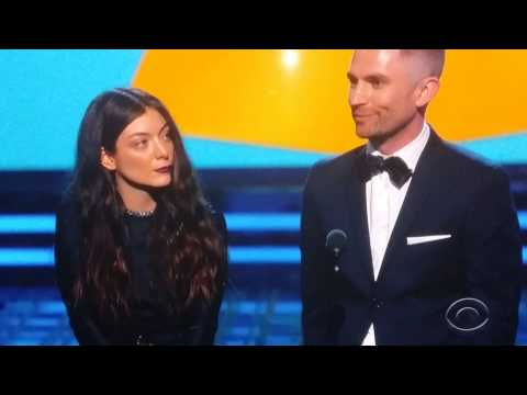 LORDE WIN AT THE GRAMMYS!! (Average quality)