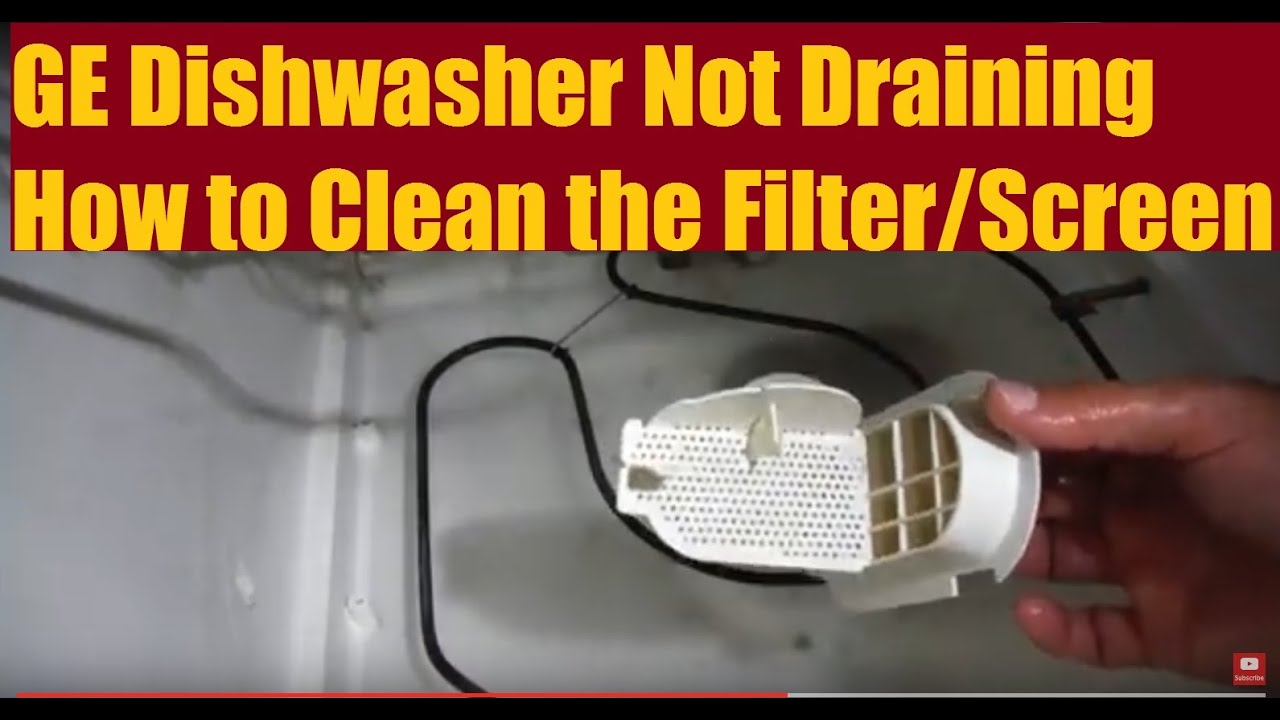 Ge Dishwasher Not Draining  How To Fix Diy  Youtube