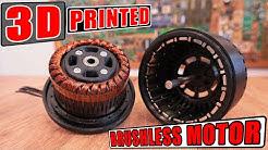 3D Printed HUGE Brushless Motor | I've made Cristoph Laimer's motor