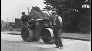 Modern Road Rolling in the County of Southampton 1934