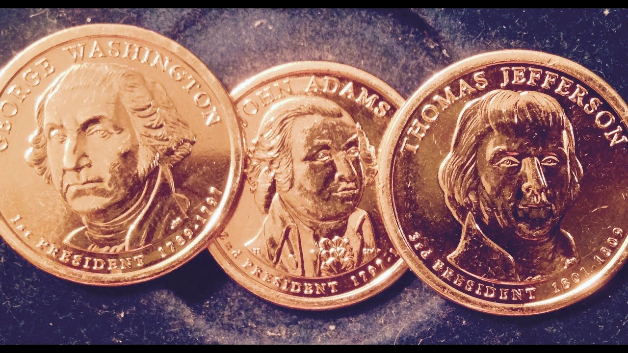 2007 D John Adams Presidential Golden Dollar BU Gold $1