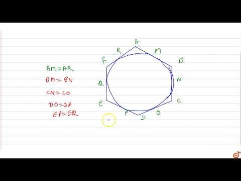 If a hexagon ABCDEF circumscribe a circle, prove that `AB + CD + EF=BC+DE+FA`