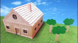 Como hacer una casa con palillos de helado