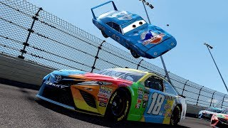 The King Flips Over the Pack! | Forza Motorsport 7 | Cars 3/NASCAR