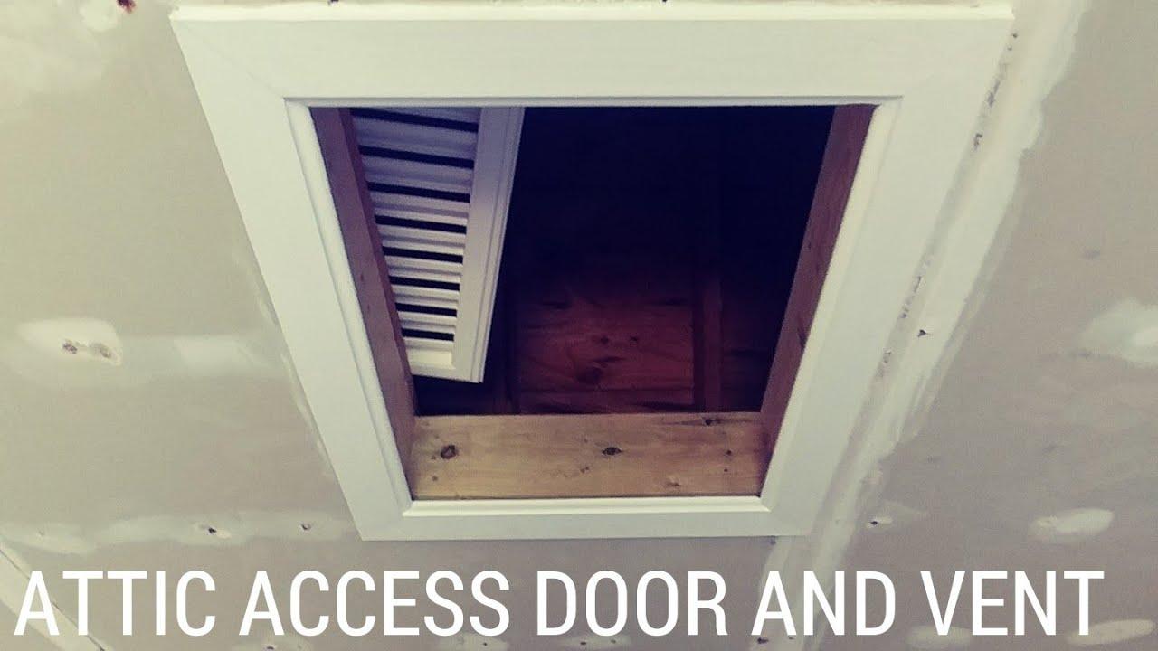 Build Attic Access Door And Vent Youtube
