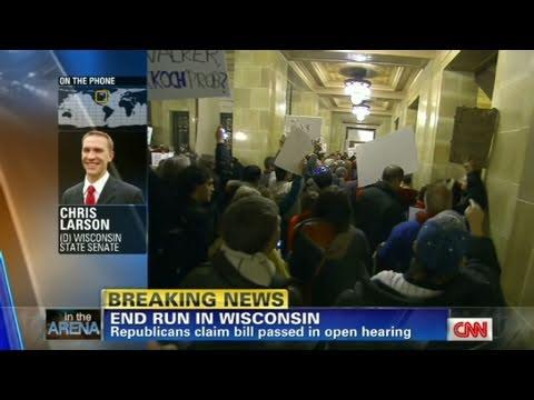 CNN: Senator: Vote an 'affront to Democracy' in Wisconsin