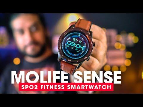fitness-smart-watch-with-spo2-sensor---molife-sense-smartwatch-review-(hindi)