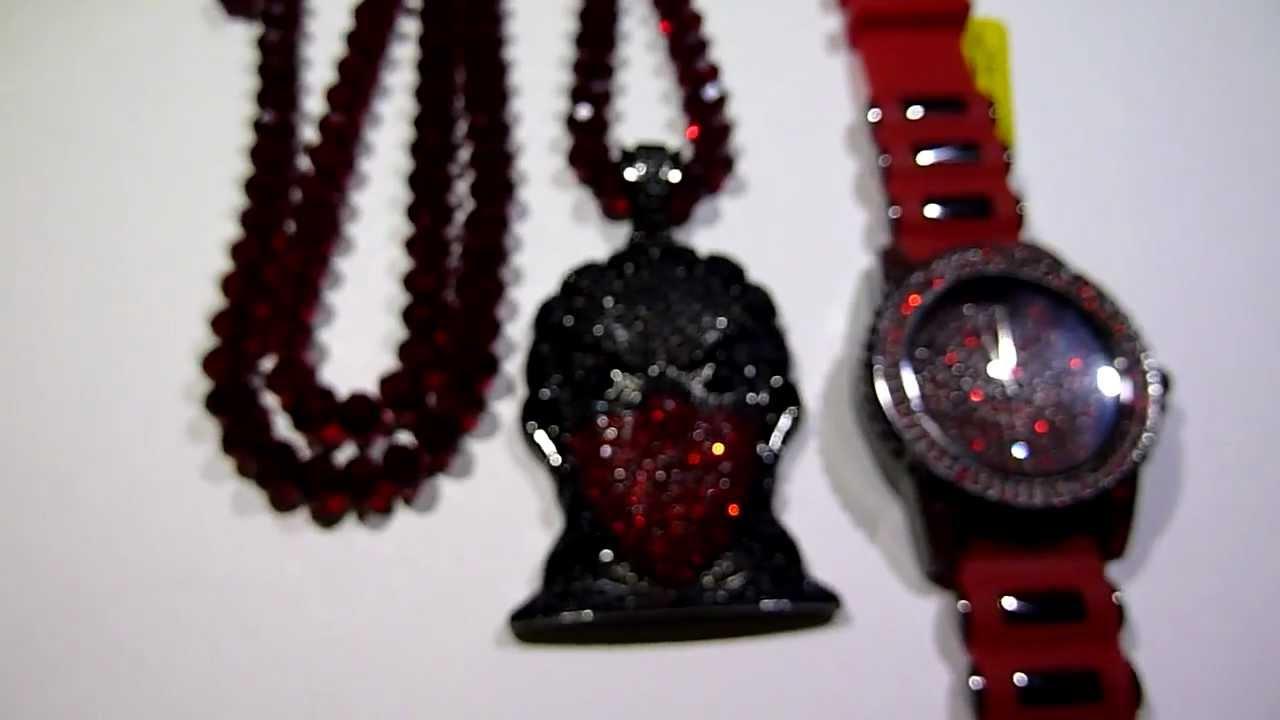 Sold Black Red Boondocks Combo Gangsta Riley Pendant