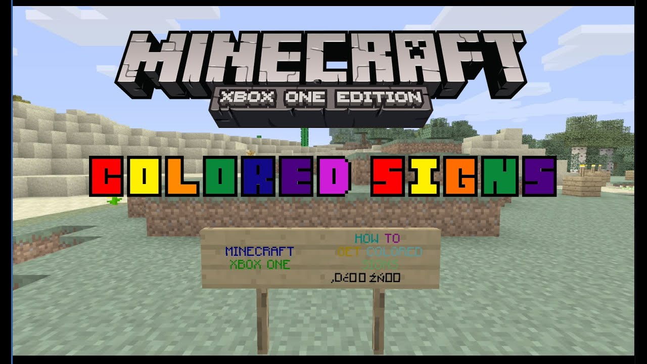 How To Make Colored Text In Minecraft Xbox 360 | Coloring Pages
