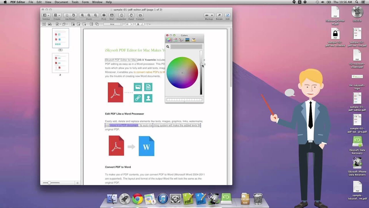 How to Change Font Color in PDF - YouTube