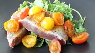 Seared Ahi Tuna With Tomato-soy Sauce
