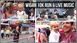 wigan 10 k run vlog and live bands the lottery winners