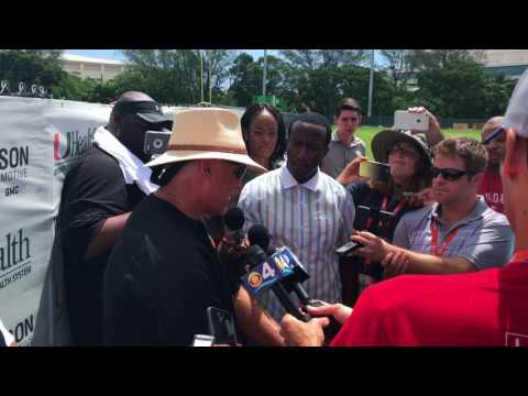Mark Richt talks quarterbacks following Day 1 of Fall Camp