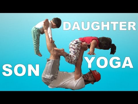 YOGA CHALLENGE WITH MY SON & DAUGHTER!