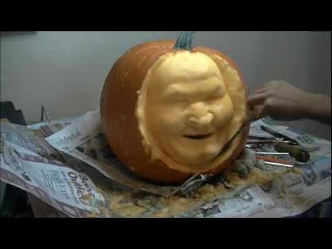 Awesome 3D Pumpkin Carving (Time Lapse)