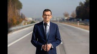 Mateusz Morawiecki podczas wypowiedzi na temat inwestycji drogowych w Polsce
