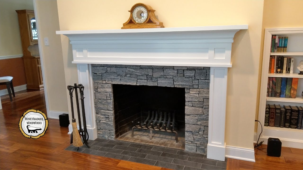 Woodworking Diy Fireplace Mantel Surround How To Part