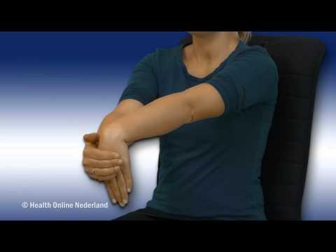 Rekoefening voor de onderarmspieren te kunnen ontspannen