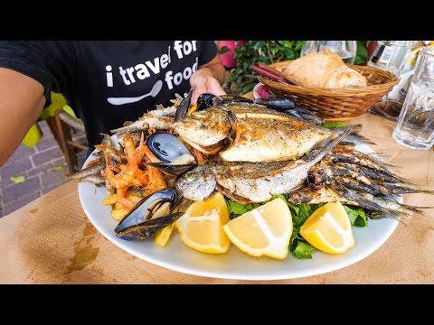HUGE Seafood Platter in Crete, Greek Islands!