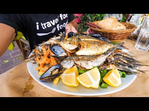 HUGE Seafood Platter in Crete, Greek Islands!