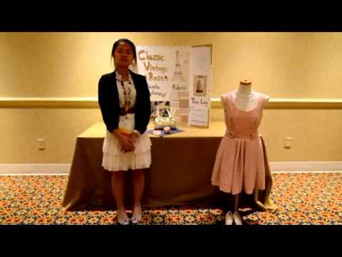 Fccla Star Events Demonstration Fashion Construction Senior Alexis Dupont Youtube